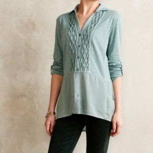 Anthro Meadow Rue Reha Sage Green Tunic